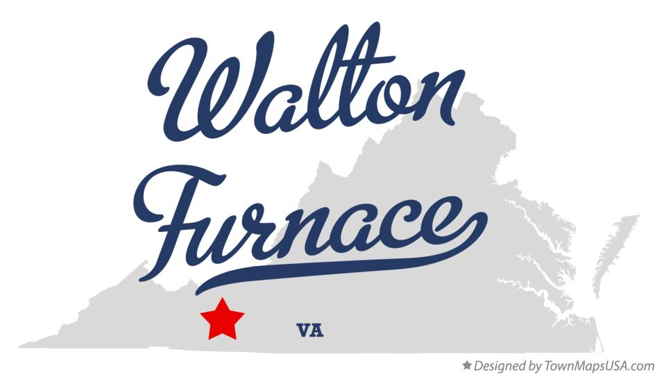 Map of Walton Furnace Virginia VA