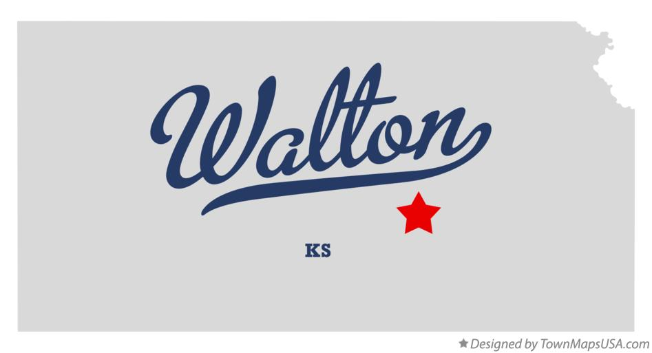 Map of Walton Kansas KS