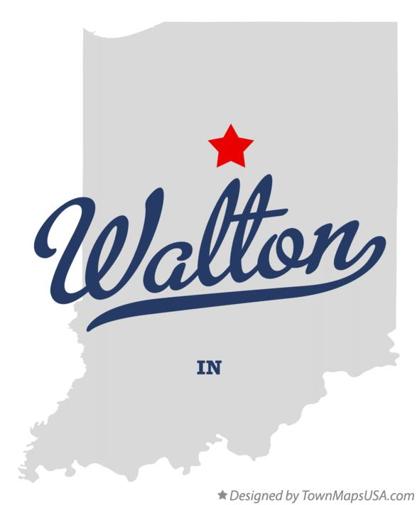 Map of Walton Indiana IN