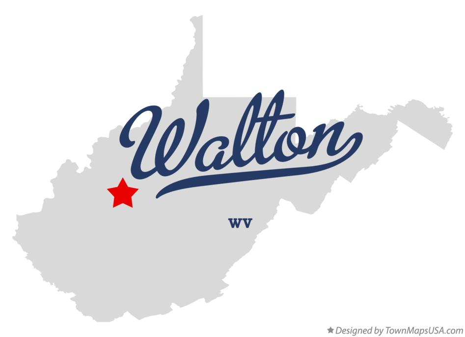 Map of Walton West Virginia WV
