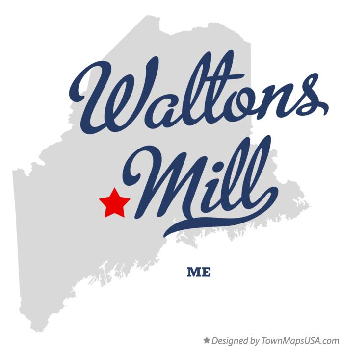 Map of Waltons Mill Maine ME