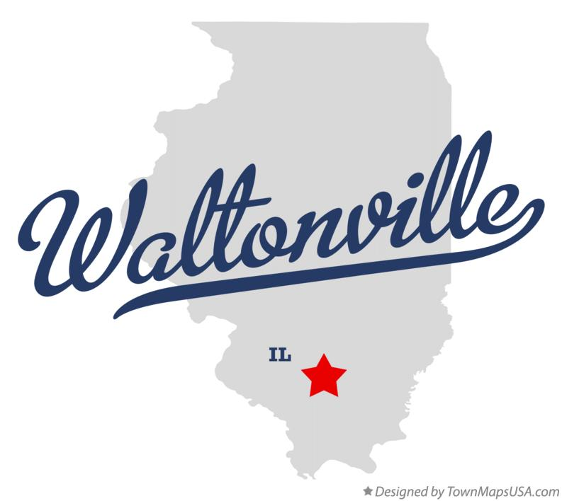 Map of Waltonville Illinois IL