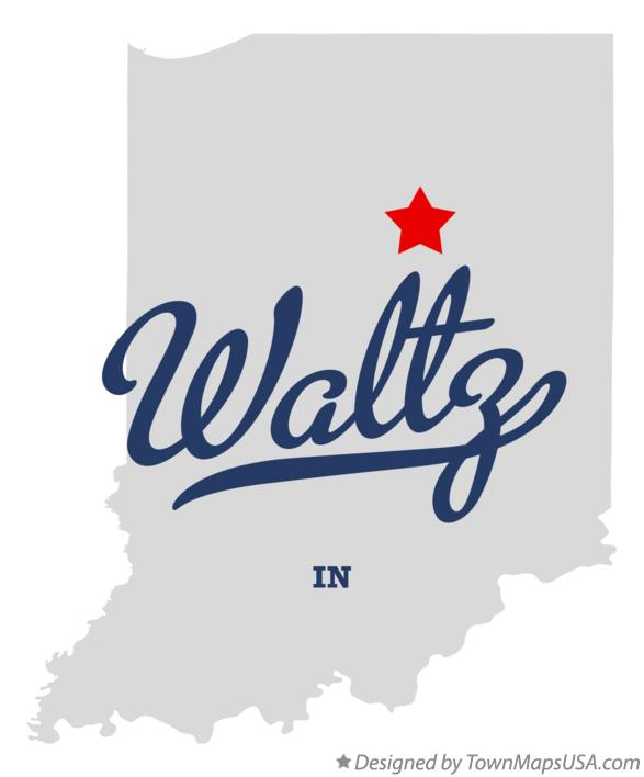 Map of Waltz Indiana IN