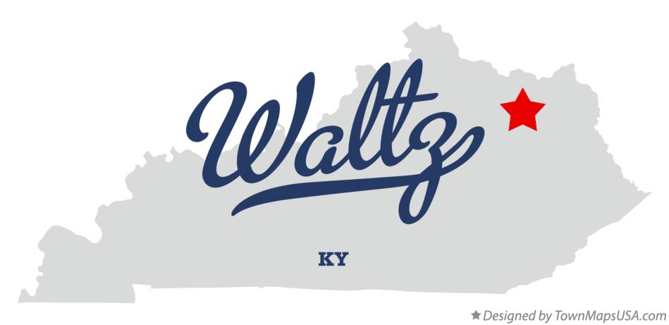 Map of Waltz Kentucky KY