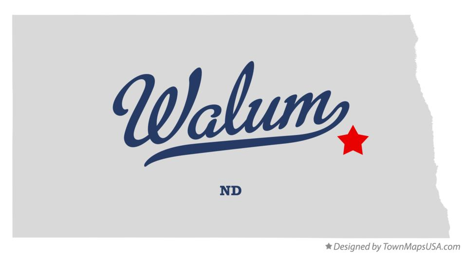 Map of Walum North Dakota ND