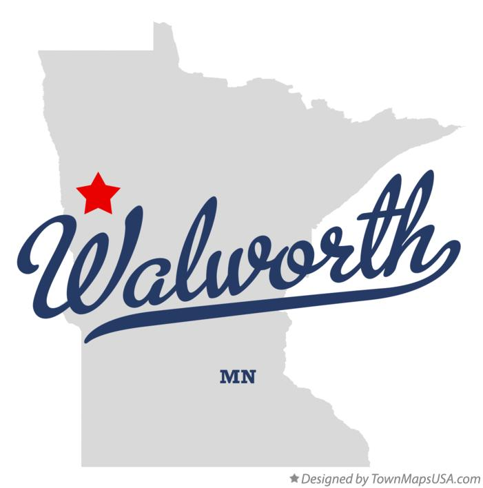 Map of Walworth Minnesota MN