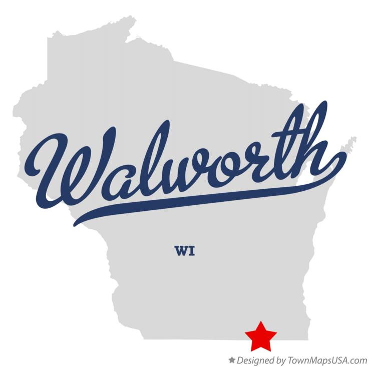 Map of Walworth Wisconsin WI
