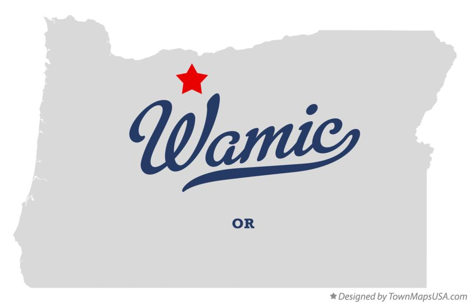 Map of Wamic Oregon OR