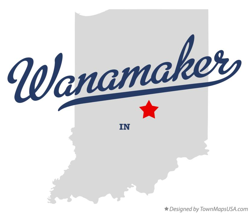 Map of Wanamaker Indiana IN