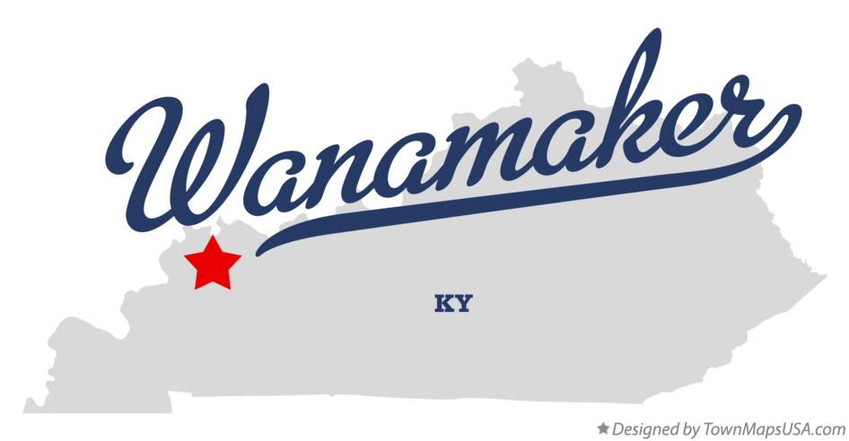 Map of Wanamaker Kentucky KY