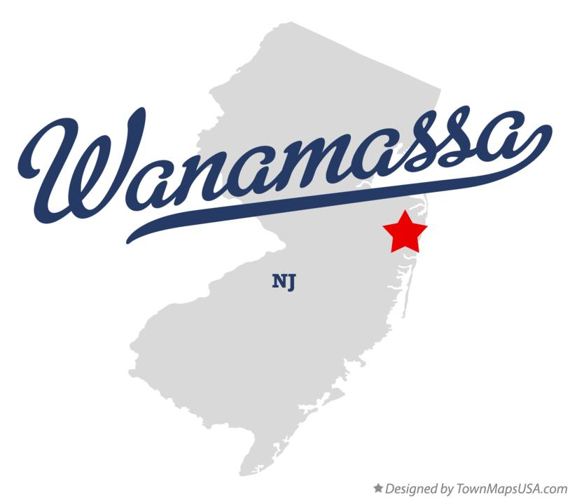 Map of Wanamassa New Jersey NJ