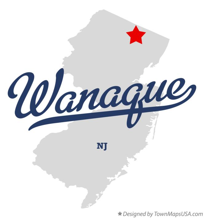 Map of Wanaque New Jersey NJ