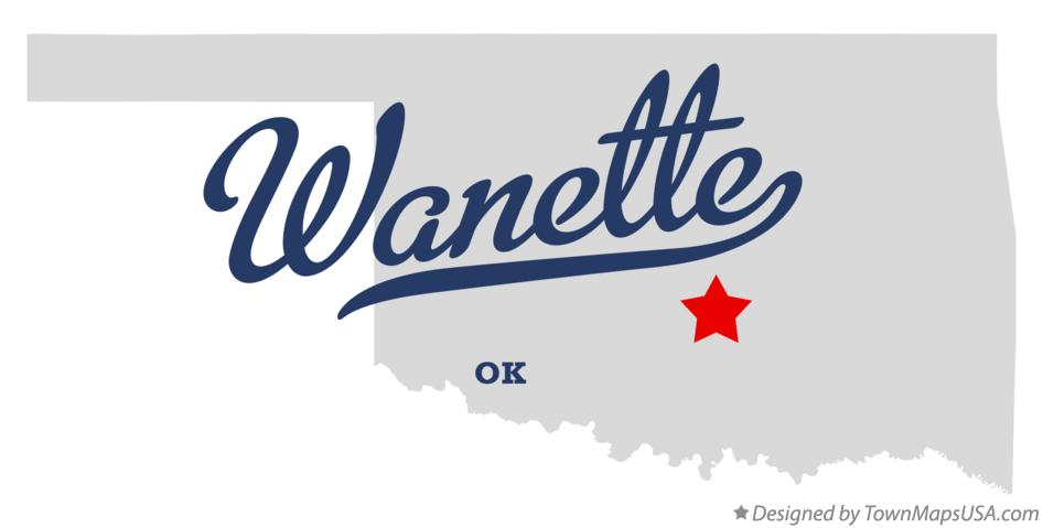 Map of Wanette Oklahoma OK