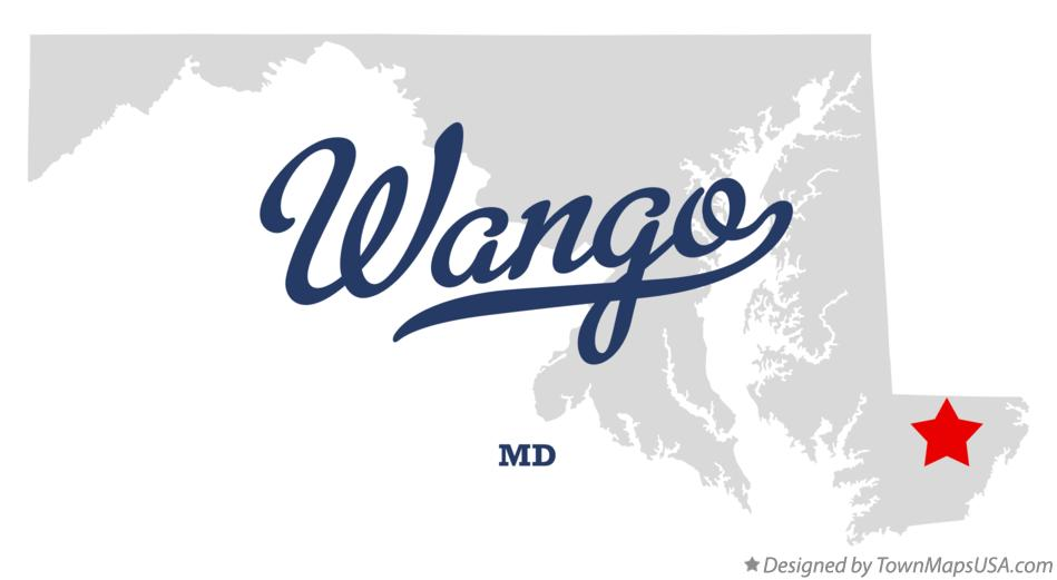 Map of Wango Maryland MD