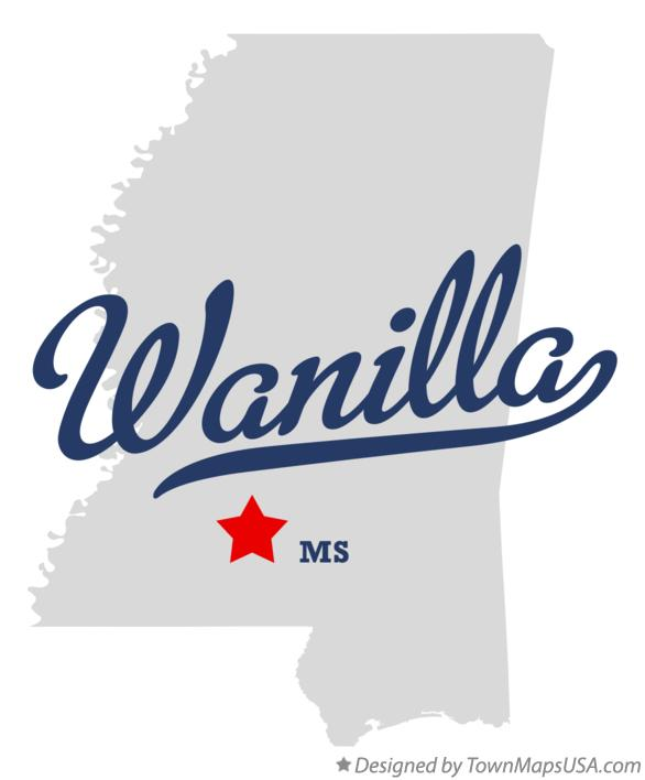 Map of Wanilla Mississippi MS