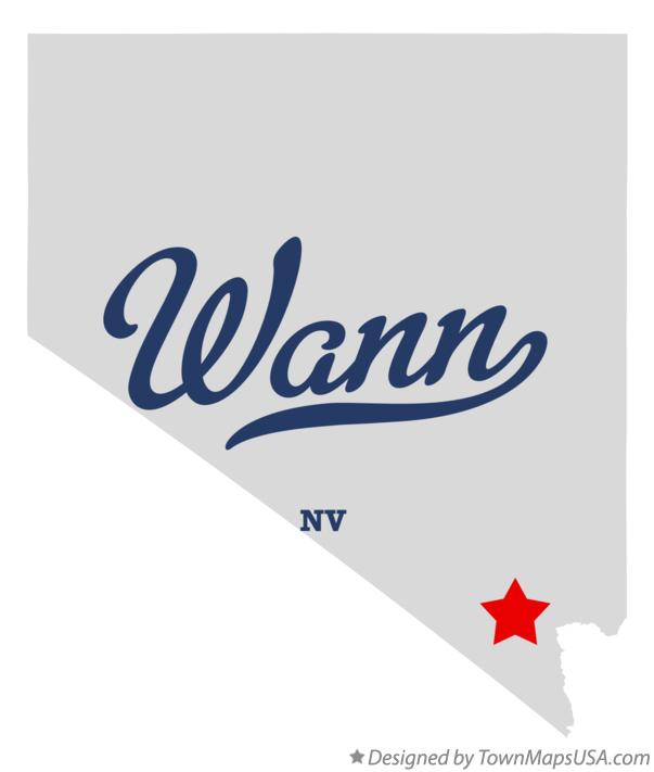 Map of Wann Nevada NV