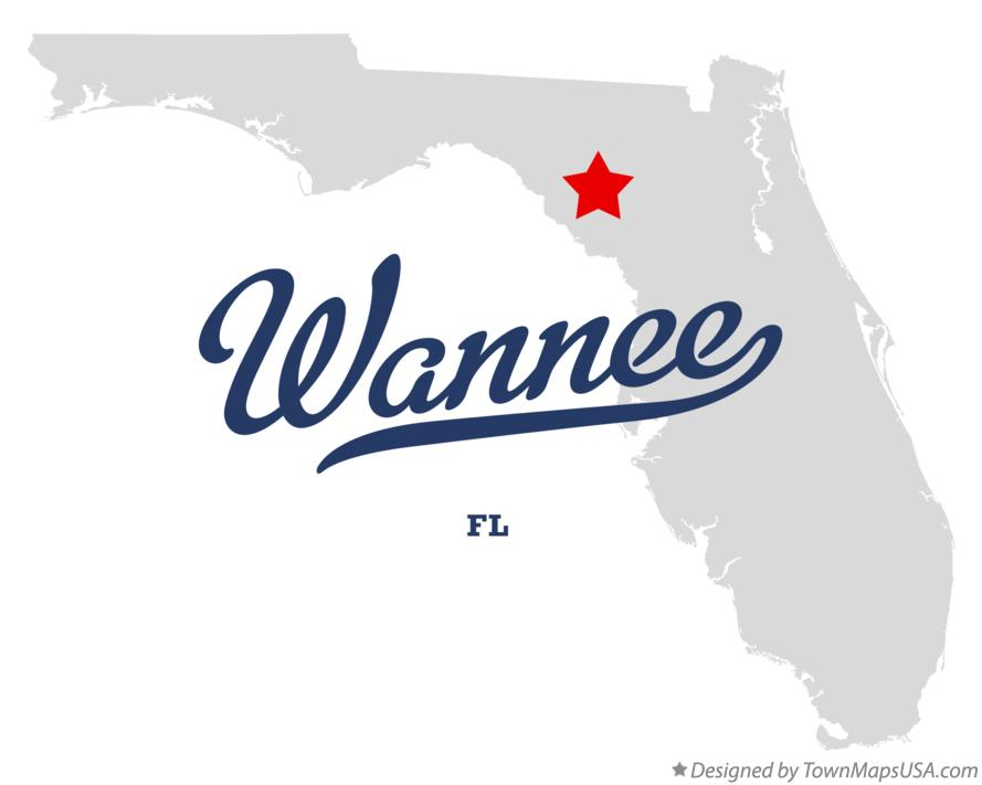 Map of Wannee Florida FL