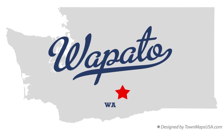 Map of Wapato, WA, Washington