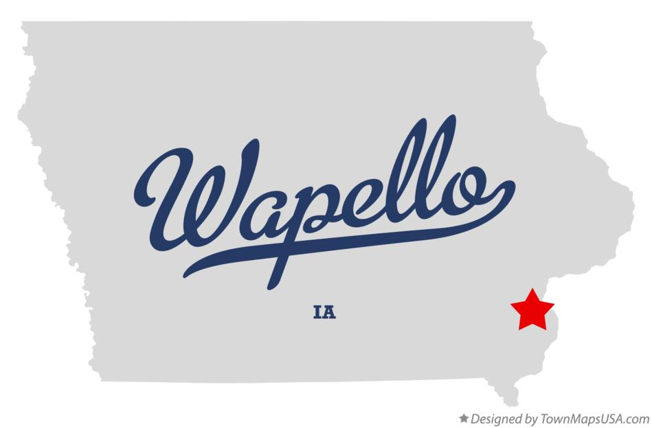 Columbus Junction (IA) United States  city pictures gallery : Map of Wapello, IA, Iowa