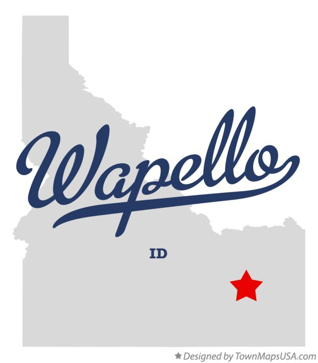 Map of Wapello Idaho ID