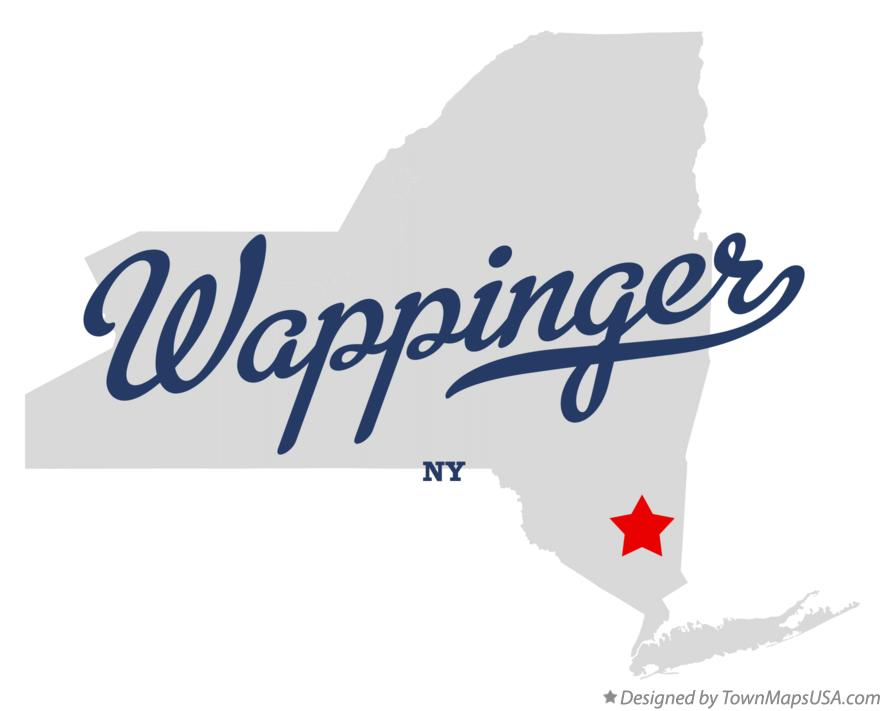 Map of Wappinger New York NY