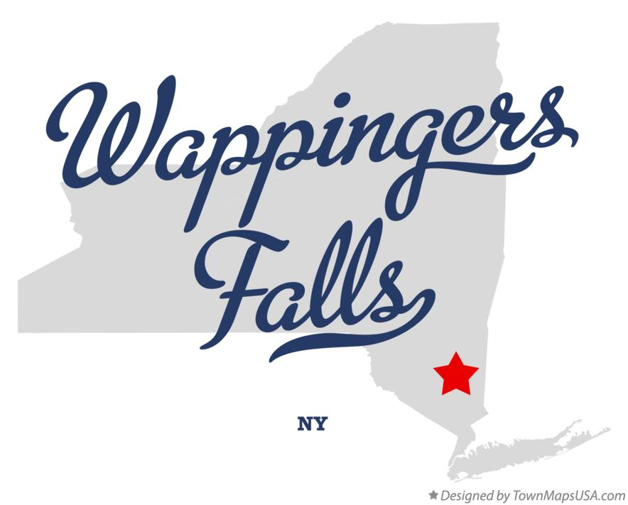 Map of Wappingers Falls New York NY