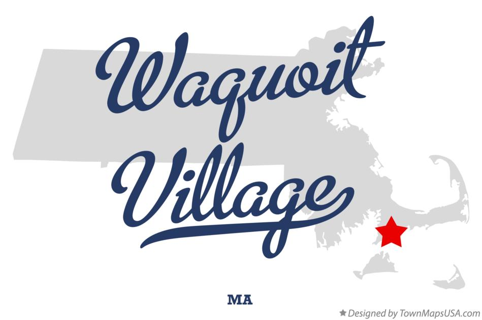 Map of Waquoit Village Massachusetts MA