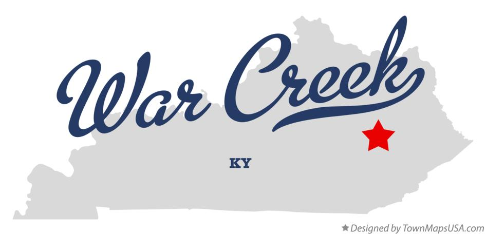 Map of War Creek Kentucky KY