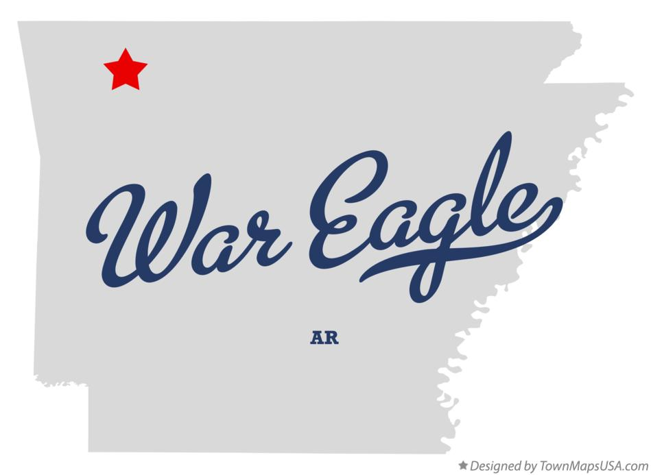 Map of War Eagle Arkansas AR