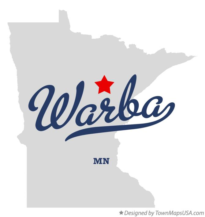Map of Warba Minnesota MN