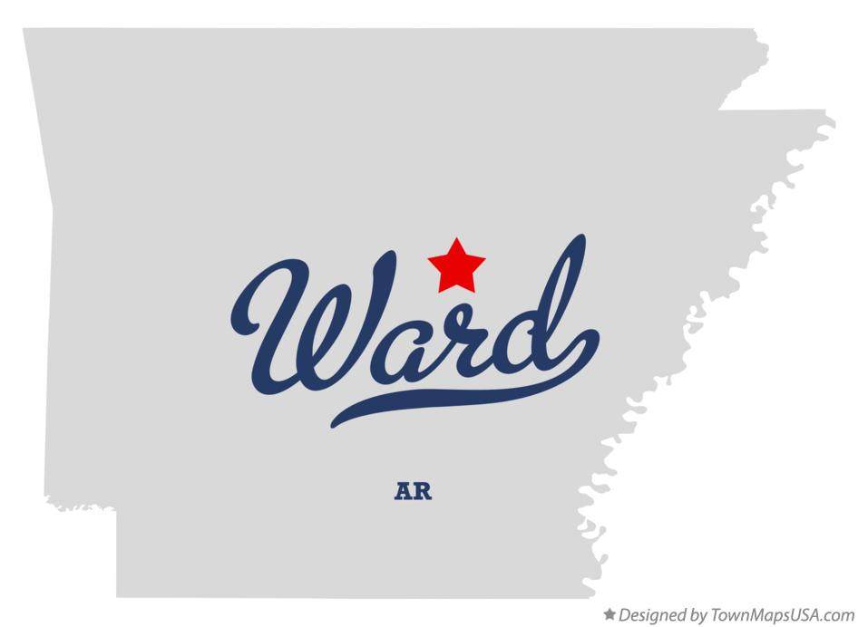 Map of Ward Arkansas AR