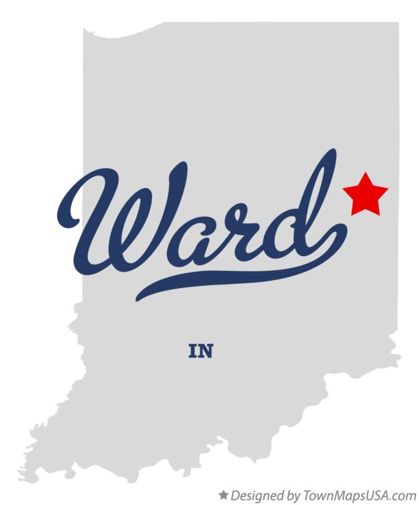 Map of Ward Indiana IN