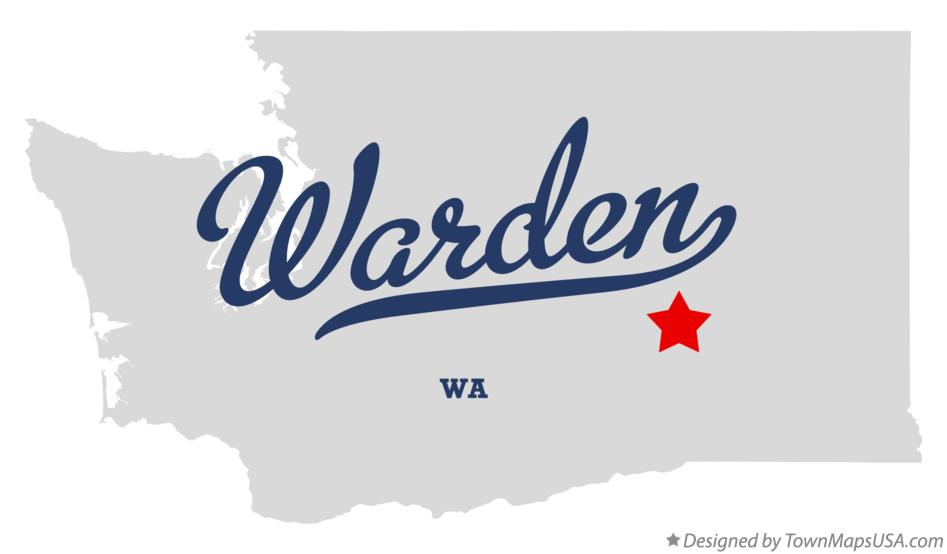Map of Warden Washington WA