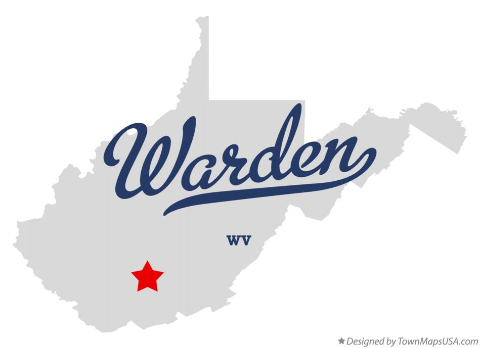 Map of Warden West Virginia WV