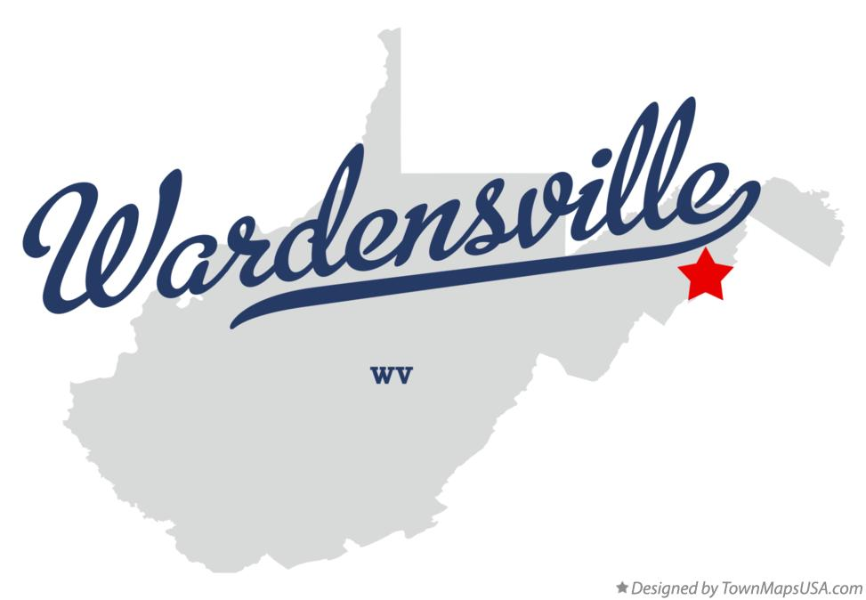 Map of Wardensville West Virginia WV