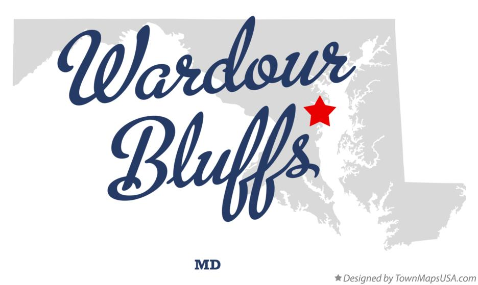 Map of Wardour Bluffs Maryland MD