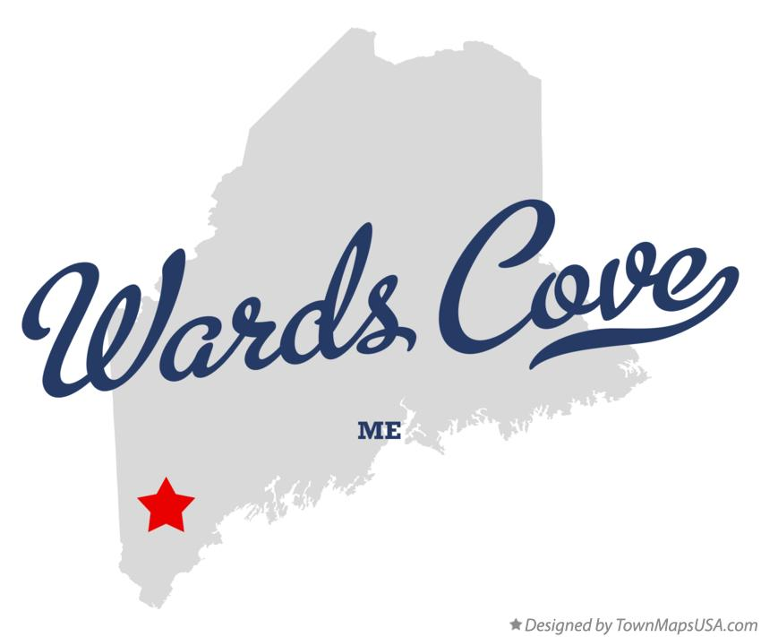 Map of Wards Cove Maine ME