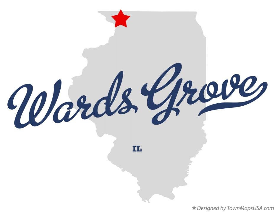 Map of Wards Grove Illinois IL