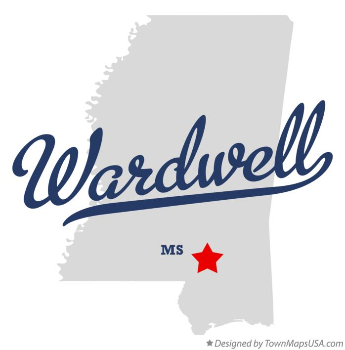Map of Wardwell Mississippi MS
