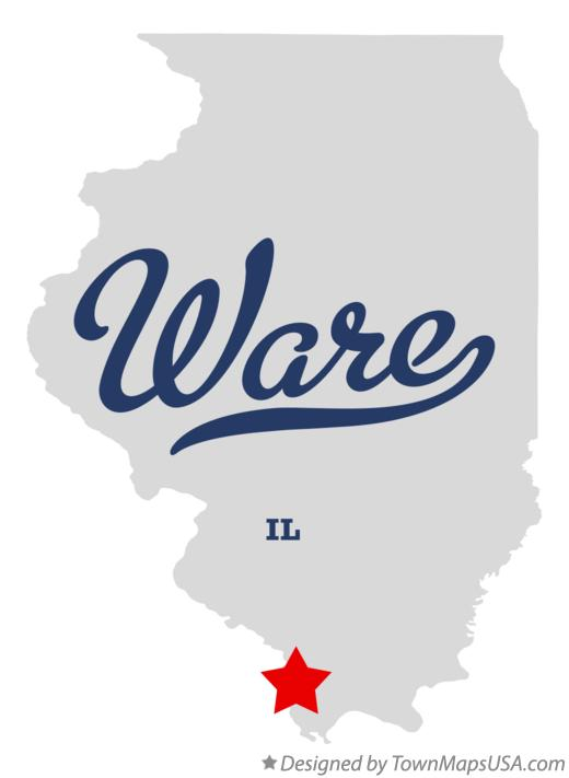 Map of Ware Illinois IL