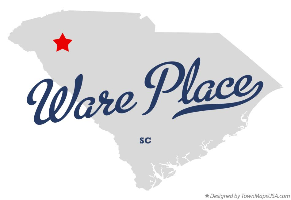 Map of Ware Place South Carolina SC