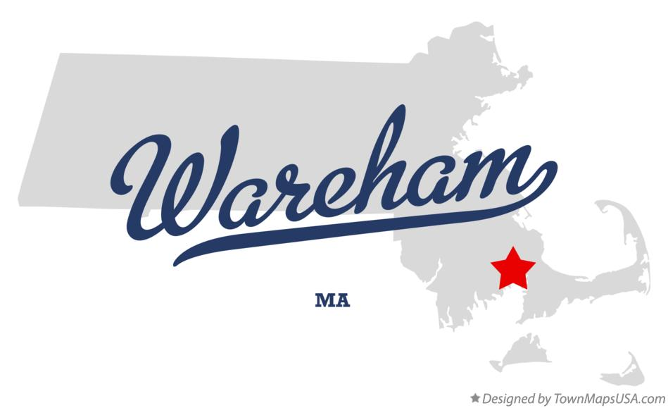 Map of Wareham Massachusetts MA