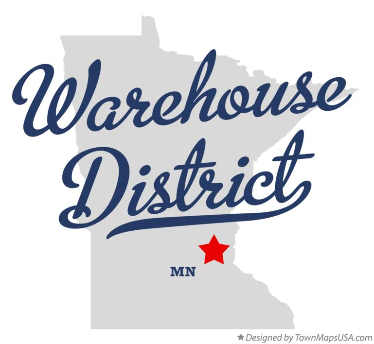 Map of Warehouse District Minnesota MN