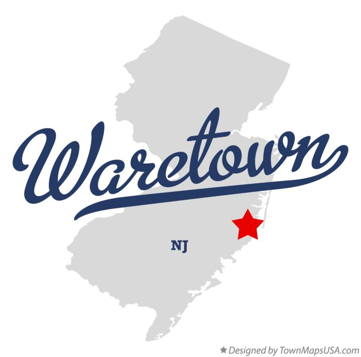 Map of Waretown New Jersey NJ