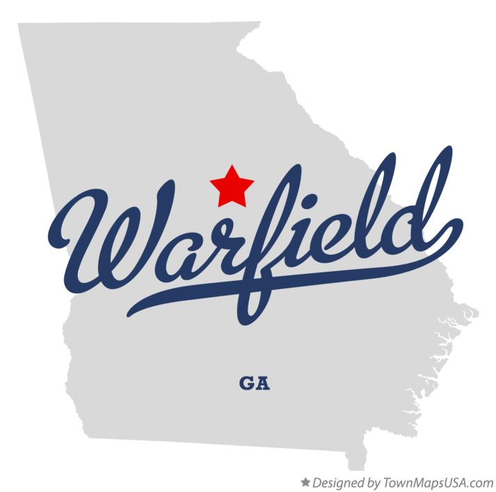 Map of Warfield Georgia GA