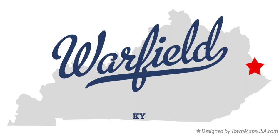 Map of Warfield Kentucky KY