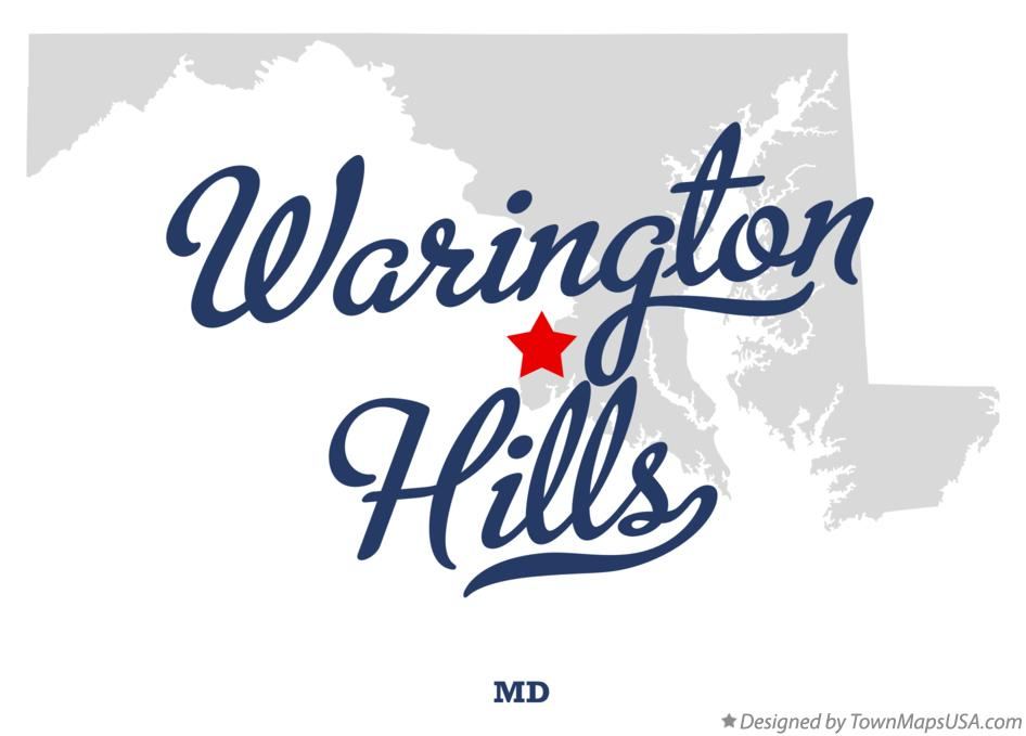 Map of Warington Hills Maryland MD