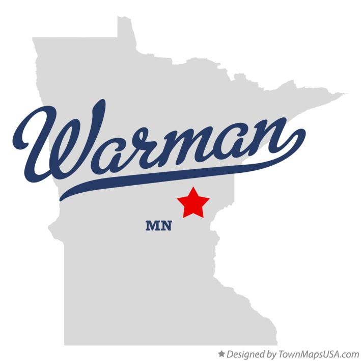 Map of Warman Minnesota MN