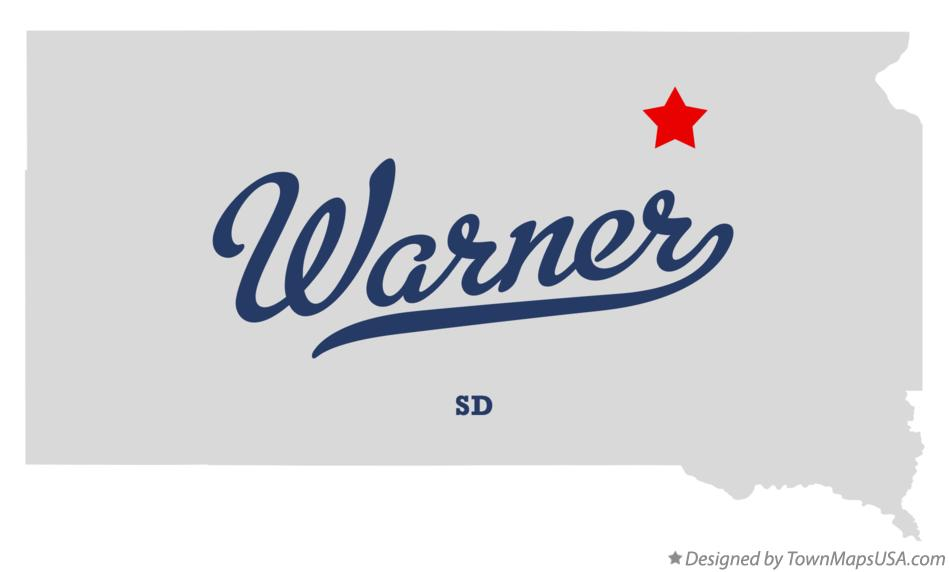 Map of Warner South Dakota SD