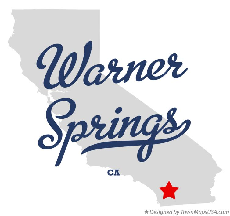 Map of Warner Springs California CA